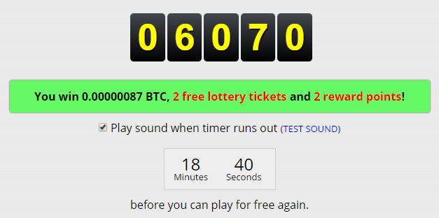 Get Bitcoins after a free Bitcoin roll