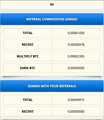 Referrals get Bitcoins